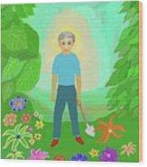 Happy Garden Wood Print