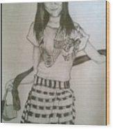 Happy Girl In Naga Outfit  Wood Print