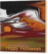 Happy Halloween Wood Print