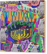 Happy Hannuka Wood Print