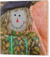 Happy Harvest Time Wood Print