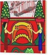 Happy Holidays 17 Wood Print