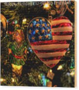 Happy Holidays To All My Faa Friends Wood Print