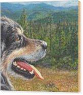 Happy In Oregon Wood Print