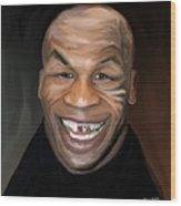 Happy Iron Mike Tyson Wood Print