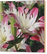 Happy Lilies Wood Print
