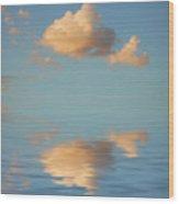 Happy Little Cloud Wood Print