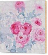 Happy Magenta -healing Roses -26 Wood Print