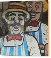 happy meat Makers Wood Print