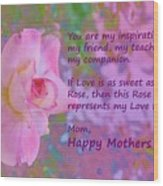 Happy Mothers Day 2 Wood Print