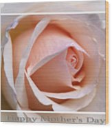Happy Mother's Day Soft Rose Wood Print