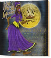 Happy New Moon Sirach 43 Wood Print