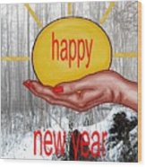 Happy New Year 22 Wood Print