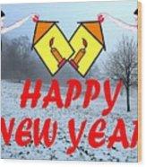 Happy New Year 24 Wood Print