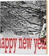 Happy New Year 33 Wood Print