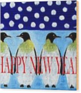 Happy New Year 5 Wood Print