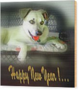 Happy New Year Art 2 Wood Print