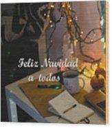 Happy New Year Holidays Wood Print