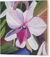 Happy Orchid Wood Print