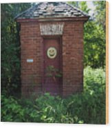 Happy Outhouse Wood Print