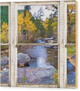 Happy Place Picture Window Frame Photo Fine Art Wood Print