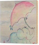 Happy Rain  Wood Print