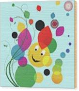 Happy Spring Image Wood Print