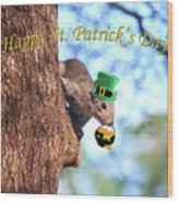 Happy St. Pat's Day Card Wood Print