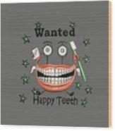Happy Teeth T-shirt Wood Print