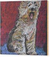 Happy The English Sheepdog Wood Print