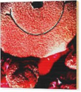 Happy To Be Red Wood Print