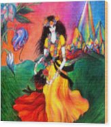 Happy To Dance. Ameynra And Mother-queen Wood Print