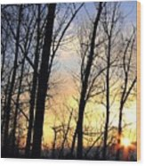 Happy Trails Sunset Wood Print