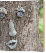 Happy Tree Wood Print