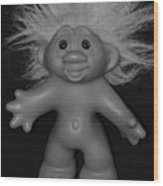 Happy Troll Wood Print