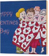 Happy Valentine Day Wood Print