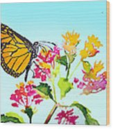 Happy Butterfly Wood Print