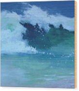 Hapuna Beach Shore Stack Wood Print