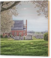 Harbaugh Church In The Spring Wood Print