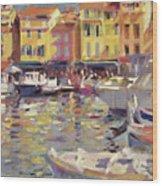 Harbor At Cassis Wood Print