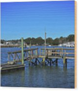 Harbor At Mcclellanville, Sc Wood Print