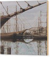 Harbor At Rest Wood Print