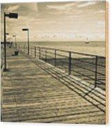 Harbor Beach Michigan Boardwalk Wood Print