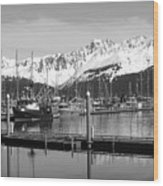 Harbor Boats Wood Print