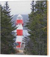 Harbor Breton Lighthouse Wood Print