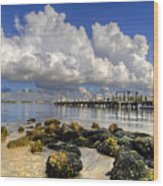 Harbor Clouds At Boynton Beach Inlet Wood Print