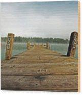 Harbor Dock Wood Print