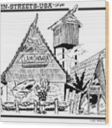 Harbor Hut Wood Print