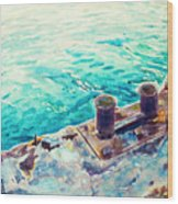 Harbor Jetty Wood Print
