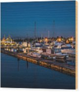 Harbor Lights Wood Print